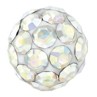 SENSITIVE™ Bola de Fuego Cristal AB 4,5mm plateado